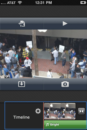 iMovie for iPhone screen shot